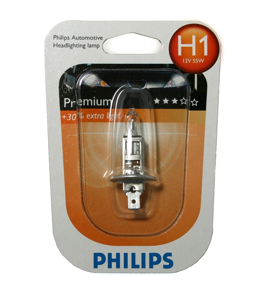 PHILIPS-H1-Premium-30-extra-light-12W-55W-Gluehlampe