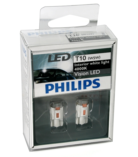 philips t10 w5w led set 4000k interior white light ebay. Black Bedroom Furniture Sets. Home Design Ideas
