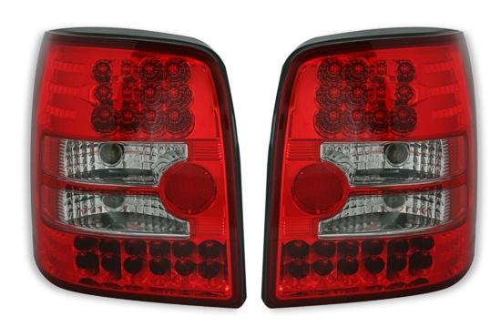 led r ckleuchten set in rot f r vw passat 3b 3bg variant kombi heckleuchten. Black Bedroom Furniture Sets. Home Design Ideas