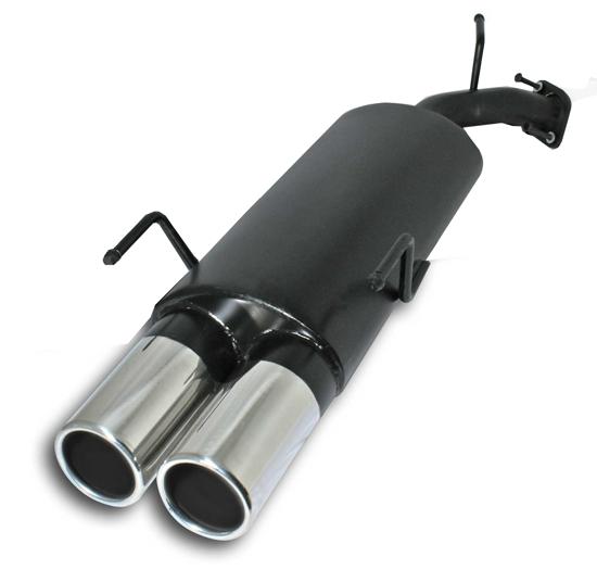 STAHL-SPORTAUSPUFF-2x90mm-RUND-fuer-OPEL-VECTRA-B-ENDSCHALLDAMPFER-AUSPUFF