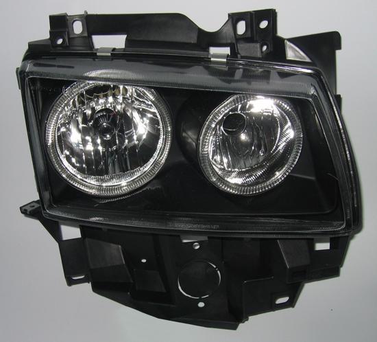 vw bus t4 jeu phares angel eyes noirs verre transparent neuf ebay. Black Bedroom Furniture Sets. Home Design Ideas