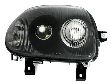 scheinwerfer f r renault clio 2 in schwarz ad tuning. Black Bedroom Furniture Sets. Home Design Ideas