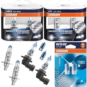 osram night breaker unlimited hb3 h1 w5w ad tuning. Black Bedroom Furniture Sets. Home Design Ideas