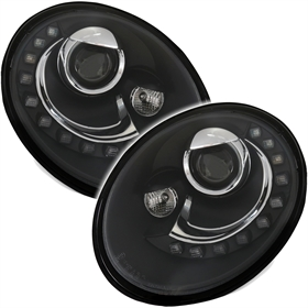 scheinwerfer f r vw new beetle 05 10 in schwarz ad tuning. Black Bedroom Furniture Sets. Home Design Ideas