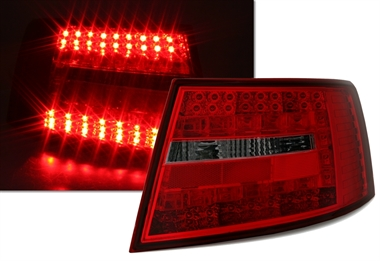 led r ckleuchten f r audi a6 4f in rot smoke ad tuning. Black Bedroom Furniture Sets. Home Design Ideas