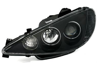ccfl angel eyes scheinwerfer für peugeot 206 | ad-tuning