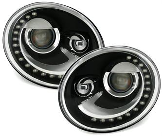 tfl scheinwerfer f r vw beetle 5c in schwarz ad tuning. Black Bedroom Furniture Sets. Home Design Ideas