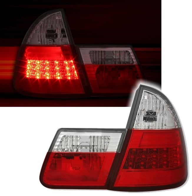 led r ckleuchten f r bmw e46 touring in rot weiss ad tuning. Black Bedroom Furniture Sets. Home Design Ideas