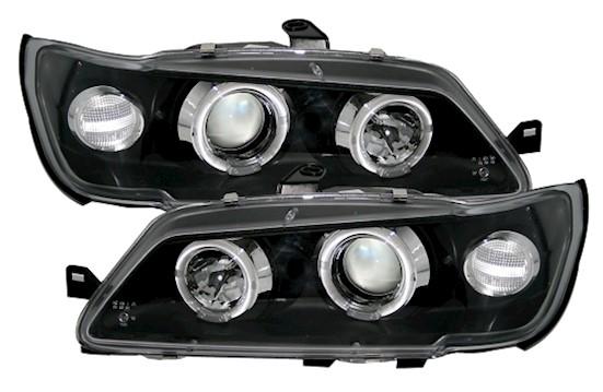 angel eyes scheinwerfer für peugeot 306 in schwarz | ad-tuning