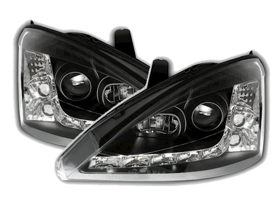 scheinwerfer f r ford focus mk1 in schwarz ad tuning. Black Bedroom Furniture Sets. Home Design Ideas