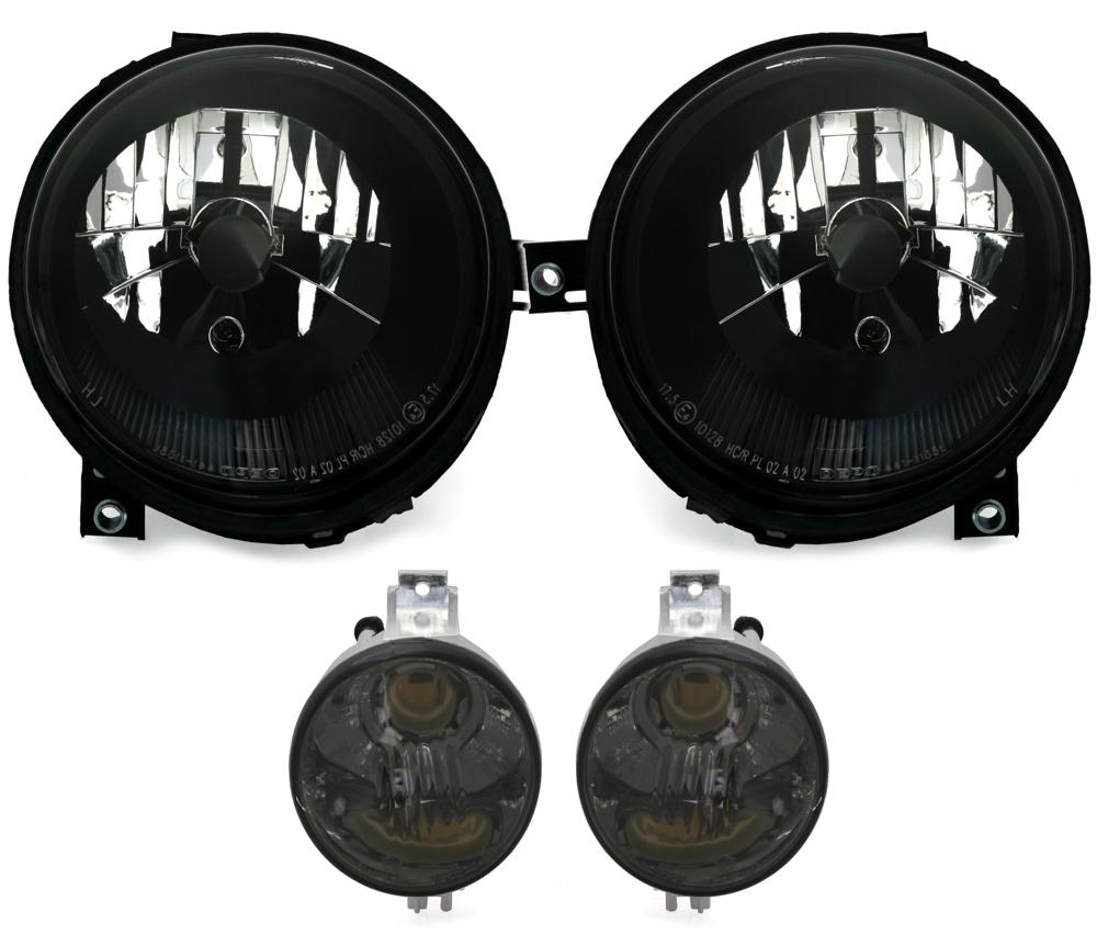 KG DEPO Frontblinker und Seitenblinker im Set Klarglas Schwarz Blinker AD Tuning GmbH /& Co