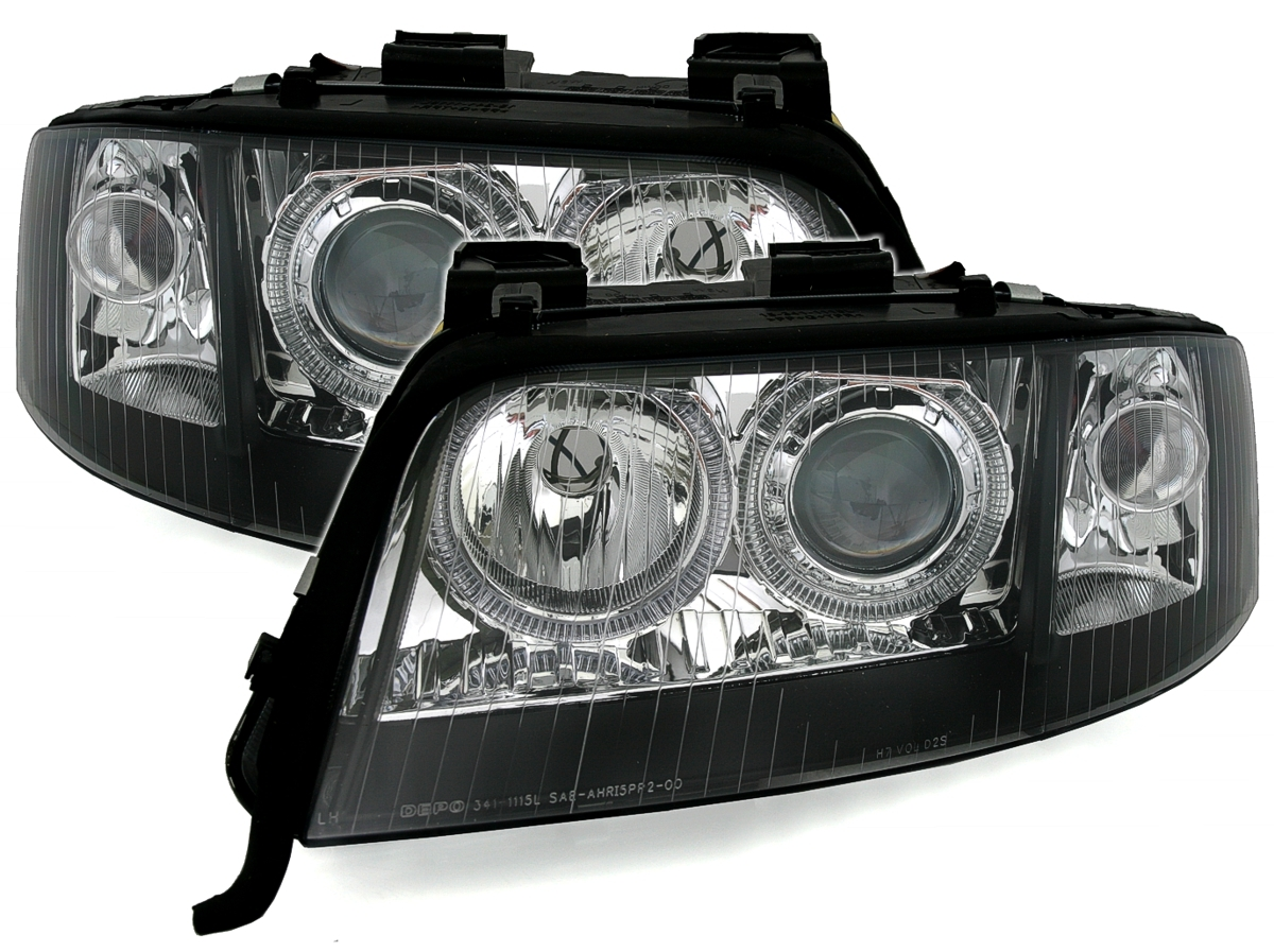 Car Tuning Styling Angel Eyes Scheinwerfer Fur Audi A6 4b C5 99 01 D2s Xenon H7 Schwarz Vehicle Parts Accessories Visitestartit Com