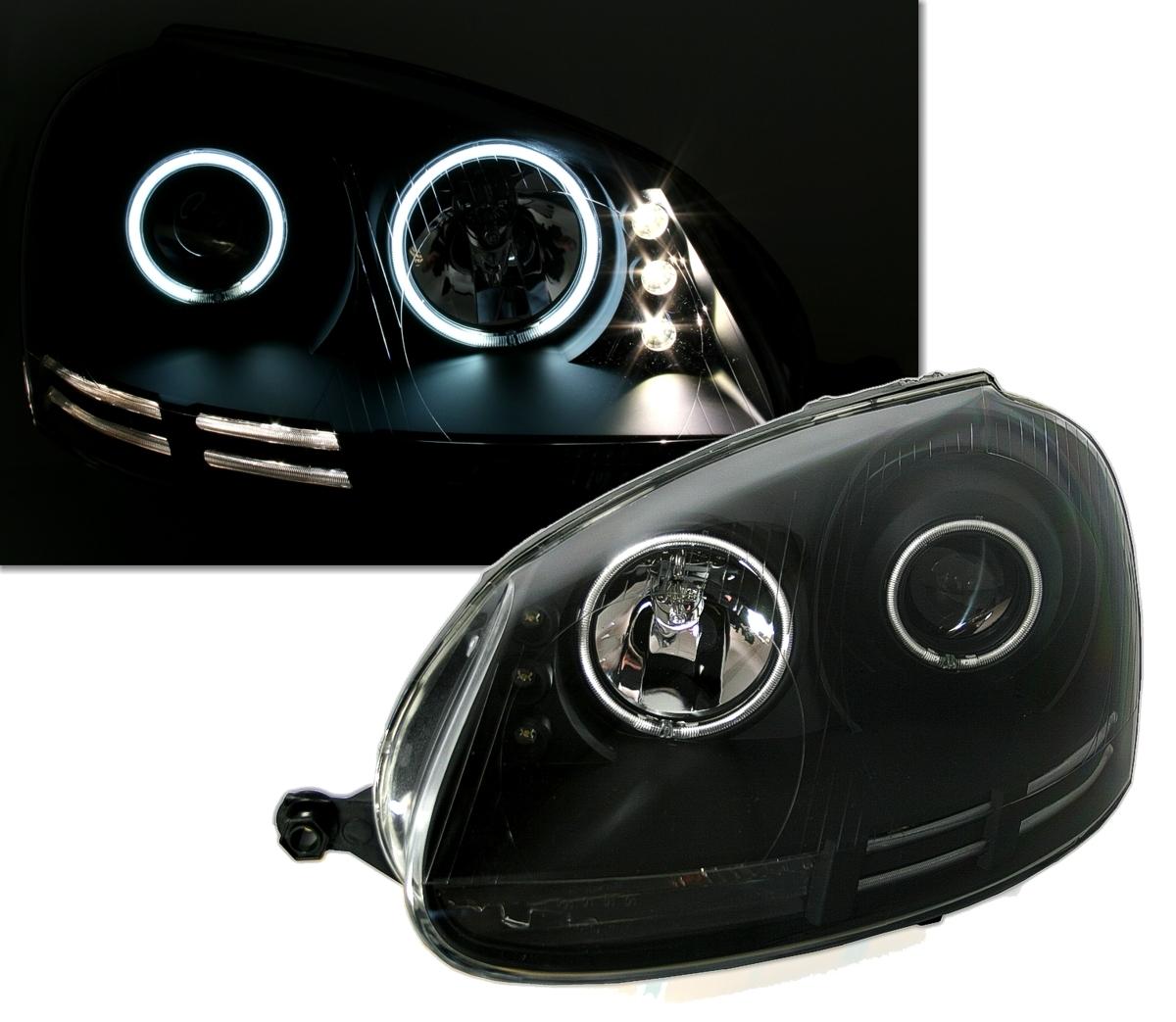 ccfl angel eyes scheinwerfer f r vw golf 5 ad tuning. Black Bedroom Furniture Sets. Home Design Ideas