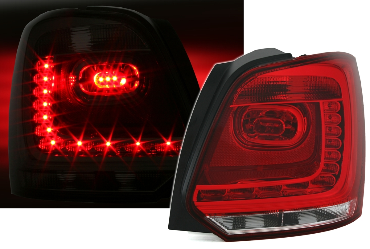 led r ckleuchten f r vw polo 6r in rot wei ad tuning. Black Bedroom Furniture Sets. Home Design Ideas